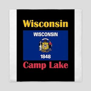 Camp Lake Wisconsin Queen Duvet