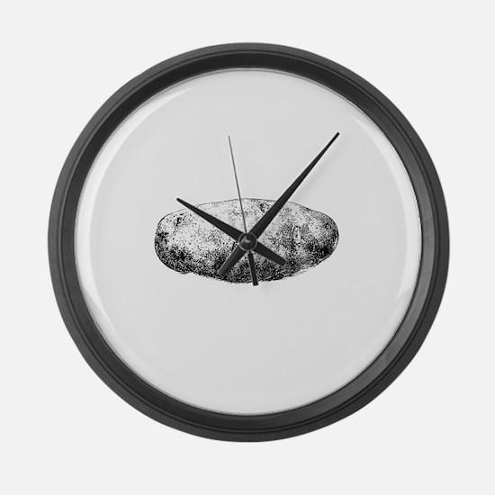 Potato Large Wall Clock