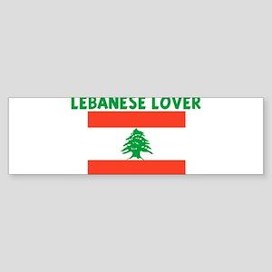 LEBANESE LOVER Bumper Sticker