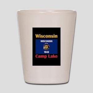 Camp Lake Wisconsin Shot Glass