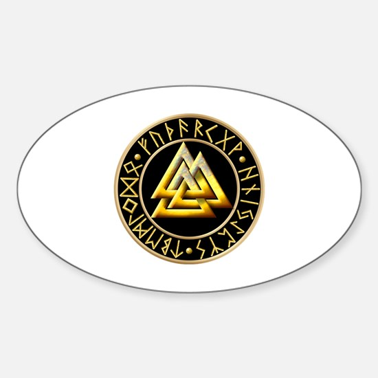 Valknut Sticker (Oval)