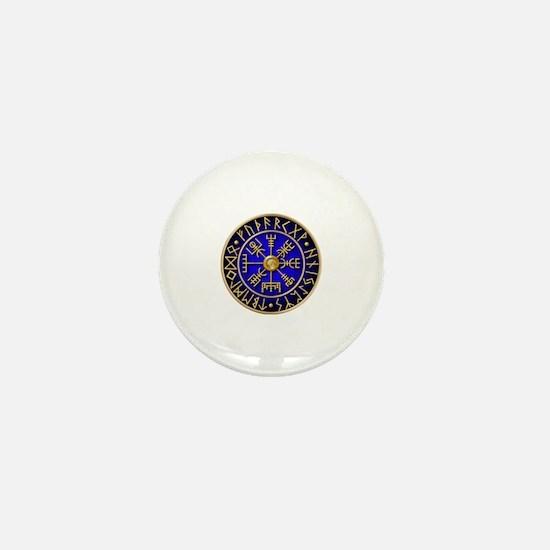 Funny Viking compass Mini Button