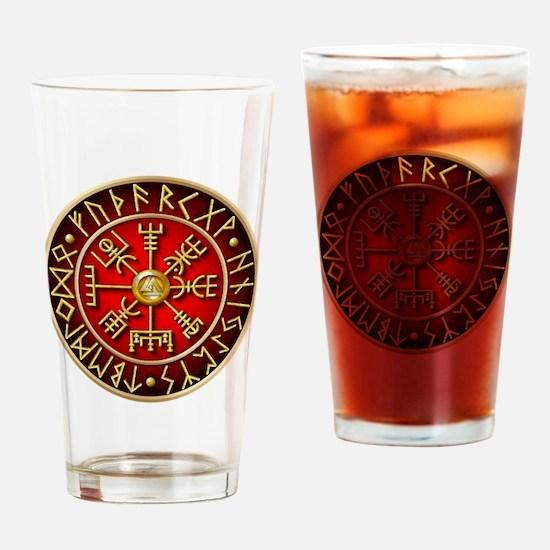 Cute Viking compass Drinking Glass