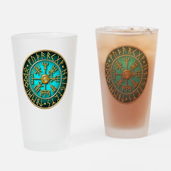 Cool Viking compass Drinking Glass