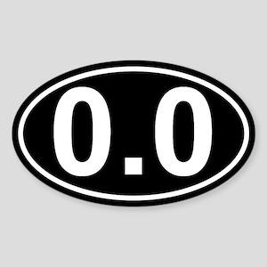 0.0 Black Sticker