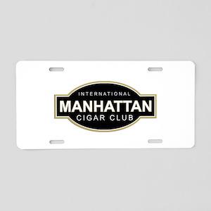 Manhattan Cigar Club Aluminum License Plate