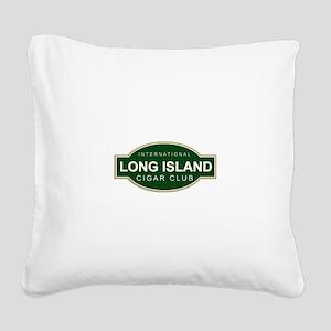 Long Island Cigar Club Square Canvas Pillow