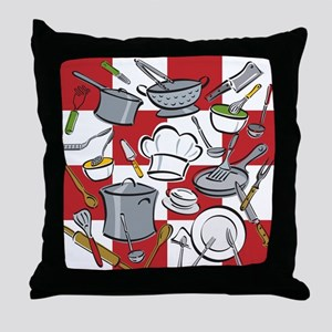 Kitchen Tools Check Throw Pillow