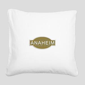Anaheim Cigar Club Square Canvas Pillow