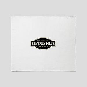 Beverly Hills Cigar Club Throw Blanket