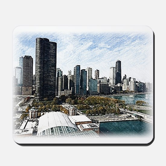 chicago drawing 2 Mousepad