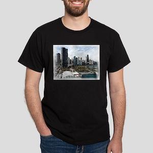 chicago drawing 2 Dark T-Shirt