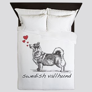 Swedish Vallhund Queen Duvet