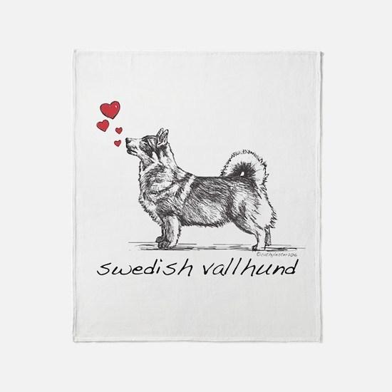 Swedish Vallhund Throw Blanket