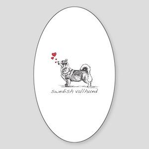 Swedish Vallhund Sticker (Oval)