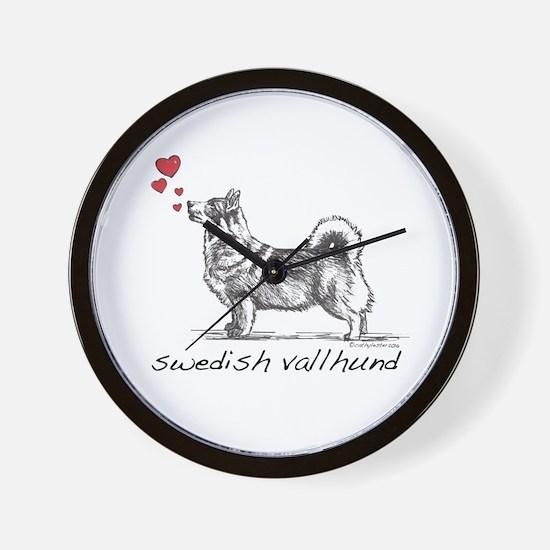 Swedish Vallhund Wall Clock