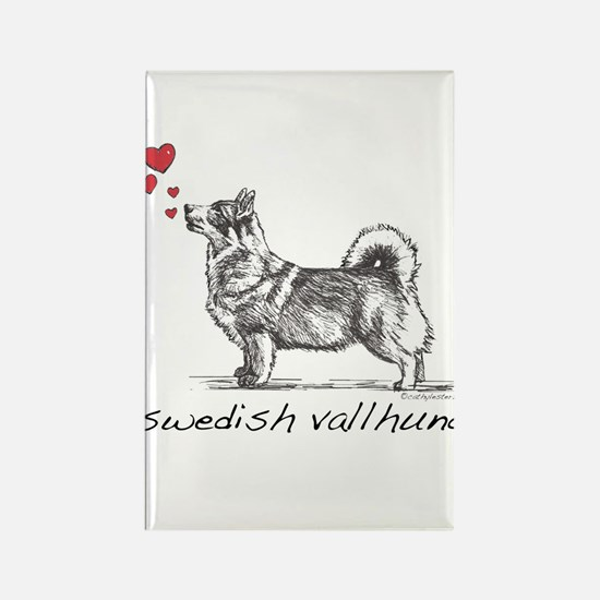 Swedish Vallhund Rectangle Magnet (10 pack)