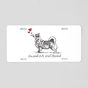 Swedish Vallhund Aluminum License Plate