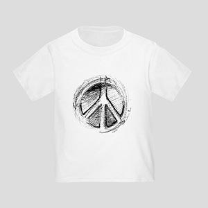 Grunge Urban Peace Sign Ash Grey T-Shirt