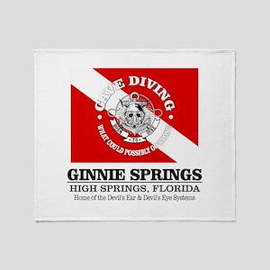Ginnie Springs Throw Blanket