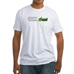 Christmas Snowmobile Fitted T-Shirt