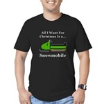 Christmas Snowmobile Men's Fitted T-Shirt (dark)