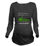 Christmas Snowmobile Long Sleeve Maternity T-Shirt