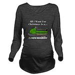 Christmas Snowmobile Long Sleeve Maternity T-Shirt