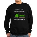 Christmas Snowmobile Sweatshirt (dark)