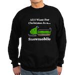 Christmas Snowmobile Sweatshirt (dark)