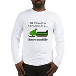 Christmas Snowmobile Long Sleeve T-Shirt