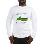 Christmas Snowmobile Long Sleeve T-Shirt
