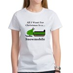 Christmas Snowmobile Women's T-Shirt