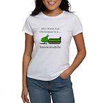 Christmas Snowmobile Women's T-Shirt