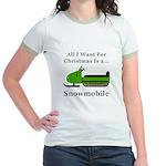 Christmas Snowmobile Jr. Ringer T-Shirt
