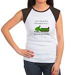Christmas Snowmobile Junior's Cap Sleeve T-Shirt