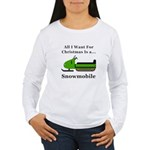 Christmas Snowmobile Women's Long Sleeve T-Shirt