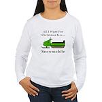 Christmas Snowmobile Women's Long Sleeve T-Shirt