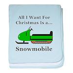 Christmas Snowmobile baby blanket