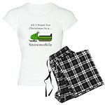 Christmas Snowmobile Women's Light Pajamas