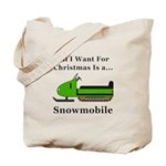 Christmas Snowmobile Tote Bag