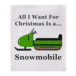 Christmas Snowmobile Throw Blanket