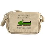 Christmas Snowmobile Messenger Bag