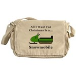 Christmas Snowmobile Messenger Bag