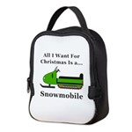 Christmas Snowmobile Neoprene Lunch Bag