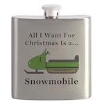 Christmas Snowmobile Flask