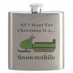 Christmas Snowmobile Flask
