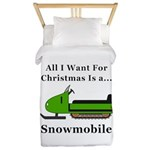 Christmas Snowmobile Twin Duvet