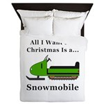 Christmas Snowmobile Queen Duvet