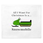 Christmas Snowmobile King Duvet